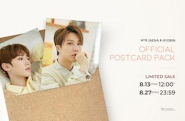NTB(ジェハ&ヒョビン)『OFFICIAL POST CARD』大好評販売中!8月27日まで!