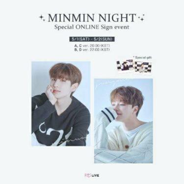 元BOYFRIEND出身JEONGMIN×MINWOOスペシャルオンラインサイン会「MINMIN NIGHT Special ONLINE Sign event」